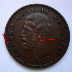 2 bani 1900 R partial spart + riduri la ureche (linii) - Moneda Romania