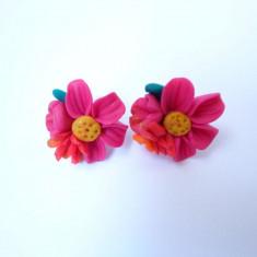 Cercei Handmade Fimo Fantezie de Culori - Cercei fimo