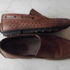 Pantofi de piele Rieker nr. 41 - Pantofi barbati Rieker, Culoare: Maro, Piele naturala