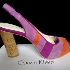 Pantofi dama Calvin Klein marimea 38 NOI! - Pantof dama Calvin Klein, Culoare: Fuchsia, Fuchsia