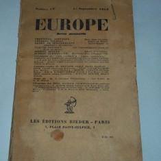 Europe nr. 57 15 septembrie 1927 (limba franceza)