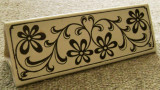 Cahla / placa ceramica / opritor usa - pictata manual - marcata