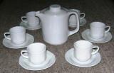 Set / Serviciu - cafea / expresso - portelan Bavaria - 6 persoane - Bauscher Weiden