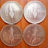 LOT MONEDE DE 1 LEU 1938, 39, 40, 41 - Moneda Romania