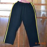 Pantaloni de trening negri cu dungi galbene, Negru, Baieti