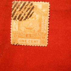 Timbru 1C orange 1886 Borneo de N colonie britanica ,stamp.