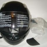 Casca moto neagra GPR mar .S / 55-56 NOUA cu 2 viziere