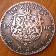 2 BANI 1900 CU RIDURI LA URECHE - Moneda Romania