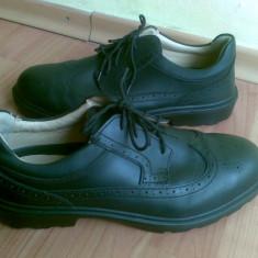 Pantofi din piele marimea 44, sunt noi! - Pantofi barbat, Culoare: Negru, Piele naturala, Negru