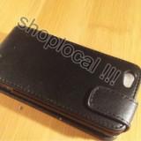 HUSA HTC one V  flip neagra cu inchidere magnetica + folie *** LIVRARE GRATUITA !!~~!