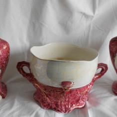 Portelan vaze si jardiniera 1895-1910 Nimi Belgium Jardiniera si vaza MARE