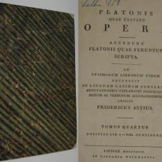 RARITATE - Platon. Opere, vol.IV, bilingva (latina-greaca), 1822