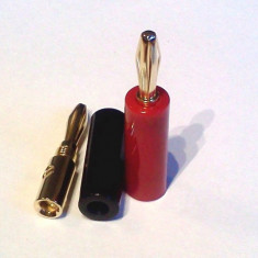 Mufe banana HiFi - conectori auriti  de calitate pentru incinte acustice (pereche - 2 buc.)