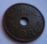 2 ore 1934 Danemarca UNC RARA!!! PRET REDUS