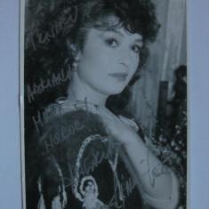FOTOGRAFIE CU AUTOGRAF ANGELA SIMILEA DIN APRILIE 1987