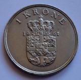 1 coroana 1961 Danemarca 1 krone 1961 Danemarca UNC RARA PRET REDUS