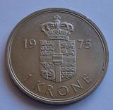 1 coroana 1975 Danemarca 1 krone 1975 Danemarca UNC