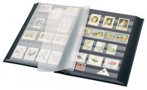 Lindner clasoar pentru timbre , 30 file/60 pagini negre