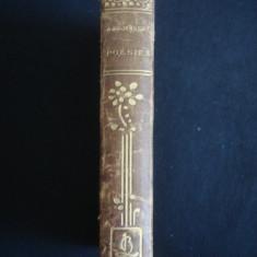 ALFRED DE MUSSET - PREMIERES POESIES * POESIES NOUVELLES 2 volume coligate {editie veche} - Carte veche