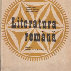 LITERATURA ROMANA. MANUAL PT ANUL II DE LICEU de VIOREL ALECU ED. DIDACTICA 1975 - Culegere Romana
