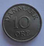10 ore Danemarca 1957 UNC RARA PRET REDUS