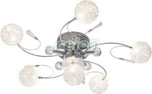 Plafoniera Globo Lighting : Plafoniera crom glob sticla cu sarma w g xled