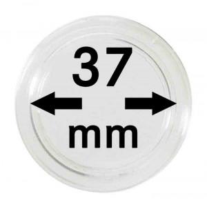 Capsule pentru monede 37 mm dimensiune intrare - 10 buc. in cutie