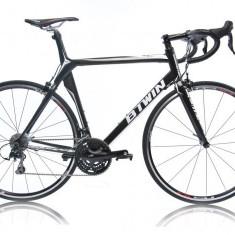 Bicicleta Btwin FC5 aproape noua - Bicicleta de oras, 28 inch, Numar viteze: 30, Carbon, Negru, Curbat(Risebar)