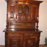 DULAP LEMN MASIV STEJAR, CU INSERTIE DE CIRES SECOLUL XVIII, Altul, German, 1800 - 1899