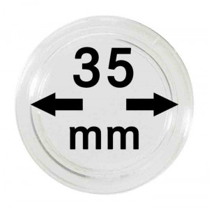 Capsule pentru monede 35 mm intrare dimensiune - 10 buc. in cutie