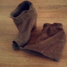 Platforme Zara - Pantof dama Zara, Culoare: Bej, Marime: 37, Bej
