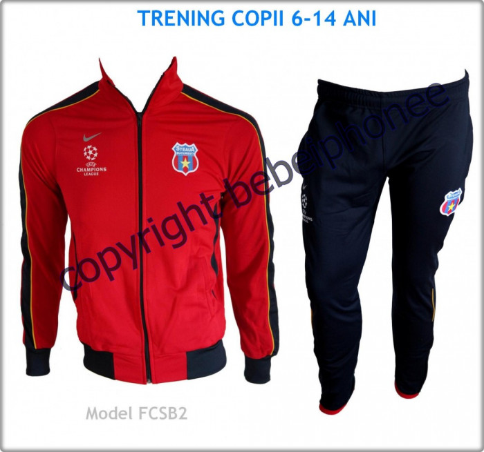 Trening Treninguri COPII 6 - 14 ANI - NIKE - STEAUA BUCURESTI - UEFA Champions League - Bluza si Pantaloni conici - LIVRARE GRATUITA - Model nou 2013 foto mare