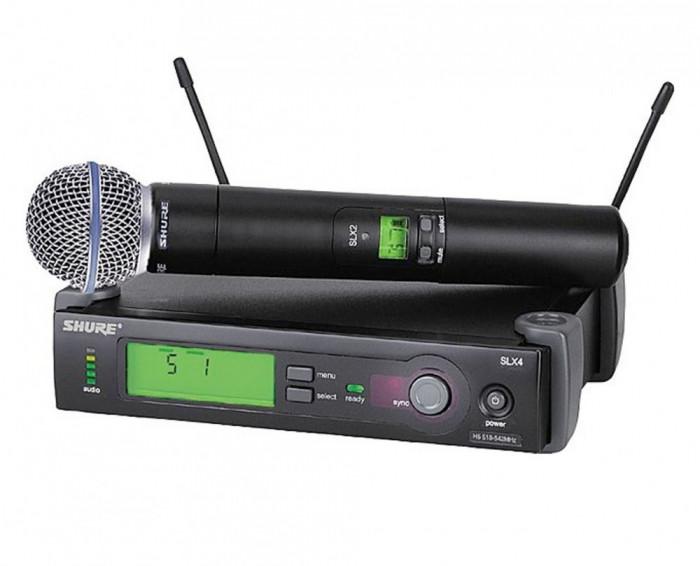 CEL MAI BUN MICROFON WIRELESS-SHURE SM 58  SLX2 ,CU RECEIVER SLX4 UHF,PRET OKAZIE!