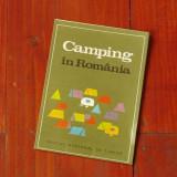 pliant Camping in Romania - oficiul national de turism 1970 harta si prezentare