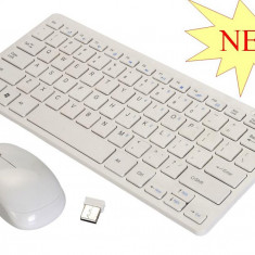 SUPER KIT TASTATURA WIRELESS + MOUSE WIRELESS TIP APPLE,2.4GHZ.PROMOTIE!