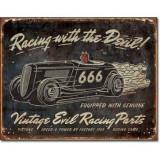 Reclama metalica vintage - EVIL RACING