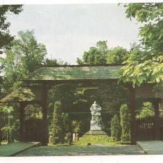 Carte postala(marca fixa)-RAMNICU-VALCEA-vedere din parc - Carte Postala Oltenia dupa 1918, Circulata, Printata