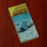 Harta - in masivul Retezat - trasee turistice - 1982