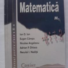 Manual Matematica Clasa a XI -a / M1 - Manual scolar corint, Clasa 11, Corint