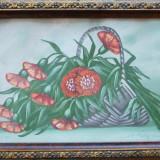 St.Petrescu - Cos cu flori - Pictor roman