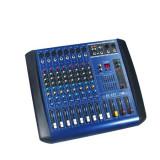 MIXER PROFESIONAL AMPLIFICAT/PUTERE 380 WATT, 4 IESIRI, EFECTE DIGITALE DSP, 8 CANALE, COOLER INTELIGENT. - Mixer audio