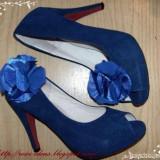 pantofi cu toc, albastri, 38