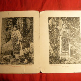 2 Fotografii sf.sec.XIX -Port Popular Gorj si Dambovita - Fotografie, Arta, Romania pana la 1900