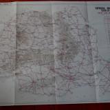 Harta - Republica Socialista Romania - auto = turistica 1973