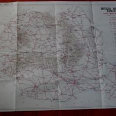 Harta - Republica Socialista Romania - auto = turistica 1973 - Harta Romaniei
