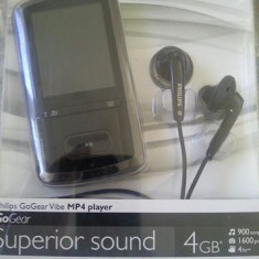 Philips GoGear Vibes 4GB, 900songs, 1600 pics, 4h rec - Mp4 playere Philips, Negru