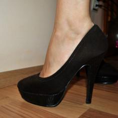 Pantofi dama maro, toc 12 cm, platforma de 3 cm, marimea 35 - Pantof dama, Cu toc