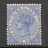 Gibraltar.1886/89 Regina Victoria 2 1/2P filigran 1 SG.3