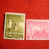 Serie- Lupta contra Foamei 1963 NIGERIA, 2 val. - Timbre straine