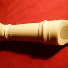 Flaut Alb bachelita cca.1950 ,Anglia ,L=35 cm
